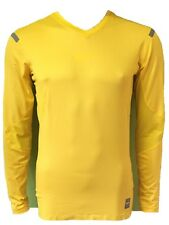 NEW Nike Pro Combat Dri-Fit Compression Shirt Functionshirt Longsleeve yellow