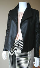 New Vince $995 Scuba Leather Jacket Black Goat Skin Must Have Authentic XXS to L