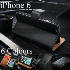 Genuine Smooth Leather iPhone 6 6S Wallet Case Generic Cover Credit Card Holder