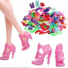 10/20/40 Pairs Fashion Assorted Multiple Styles High Heel Shoes Barbie Doll HOT