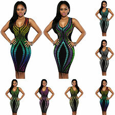 WOW Sexy Women's Summer Bandage Bodycon Evening Party Cocktail Short Mini Dress