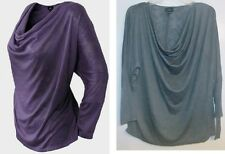 Mossimo Womens Purple Batwing Cowl Neckline Shirt Blouse Top Size Large NWT