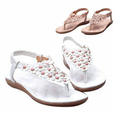 Summer Flat Flower Bohemia Shoes Beach Slippers Thong Flops Flip Sandals Womens