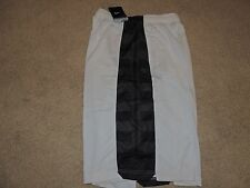 Boy's Nike Dri-Fit ELITE Striped Basketball Shorts NWT XL White Black 698590