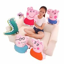 Peppa Pig Family Plush Toys Sofa Decor Cushions Daddy Mummy George Mr. Dinosaur