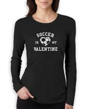 Soccer Is My Valentine - Gift for Soccer Fans Women Long Sleeve T-Shirt