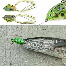 Quality Frog Weedless Lures Design Hook 60mm Simulation Frog Fishing Bass Bait