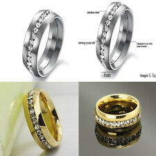 Sz4-15 CZ Stainless Steel Ring Titanium Wedding Couple