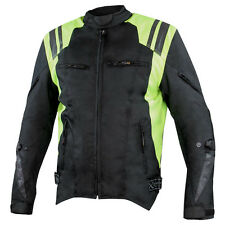 Xelement 'Swift' Men's Black/Neon Green Tri-Tex Armored Motorcycle Jacket