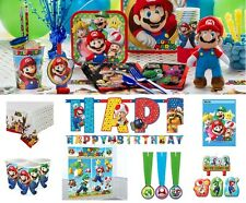 NEW Super Mario Birthday Party Supplies Tableware Plates Napkins Cups Invites