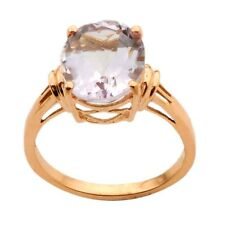 Pink Amethyst 4.44 Carat Genuine Gemstone Ring In 10kt Solid Rose Gold Jewelry