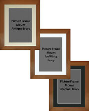 Picture Frame Waxed Pine Handmade 55mm With 3 Mount Options 18no Frame Sizes