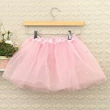Ballet Dancewear Party Costume Bling Sequin Tulle Tutu Skirt Princess Dressup