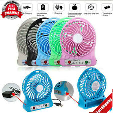 Rechargeable LED Fan air Cooler Mini Operated Desk USB or Battery(Include) sjrrd