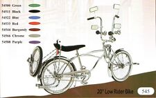 "New 20"" Lowrider Bike Beach Cruiser with Bent fork 72 spokes pick up color"