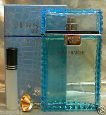 TRAVEL SIZE VERSACE MAN EUA FRAICHE  EAU DE TOILETTE 0.33 FL. OZ. 10 ML
