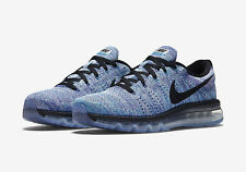 NEW Nike Flyknit Air Max Mens Shoes Size 10 White Chlorine Blue Black 620469 104