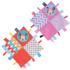 Mickey & Minnie Mouse Overlap Collection Comforter -Taggie Blanket FREE DELIVERY