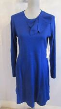 NWT JESSICA H SMALL, L & XL COBALT BLUE SWEATER DRESS WITH BOW MSRP $99.00