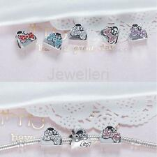 5pcs Crystal Hangbag Design Charms Pendants Fit Necklace Bracelet Jewelry Making