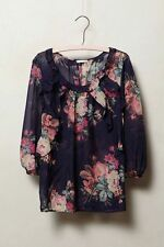 New Anthropologie Cotati Silk Blouse by Leifsdottir Sz 2 8 Petite $118