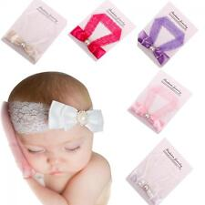 Toddler Hairband Crystal Lace Baby Headband Head Wrap Bow Knot Infant Turban