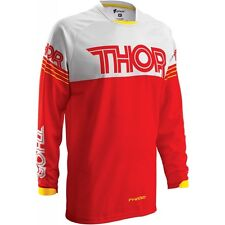 Thor Phase Hyperion Jersey Red Adult M MD Medium L LG Large MX ATV Motocross
