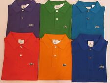 NEW BOYS' LACOSTE S/S CLASSIC PIQUE POLO SHIRT, PICK A SIZE AND COLOR