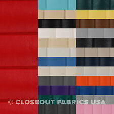 """PREMIUM PLEATED LEATHER VINYL FABRIC MARINE OUTDOOR AUTO UPHOLSTERY - 54""""W BTY"""
