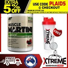 GAT MUSCLE MARTINI 30 SRV MIXED BERRY // BCAA INTRA WORKOUT RECOVERY AMINO ACIDS