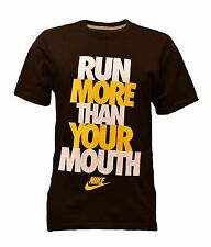 Nike Men's Run More Than Your Mouth Umber Brown Long Sleeve T-Shirt
