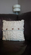 """16""""  Hand Knitted Cushion Cover (pad not included)"""