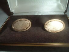 Vintage 1971 Avon Brushed Goldtone Cufflinks Never worn in Original Box