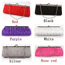Wedding Party Evening Bag Clutch Pleated Handbag Purse