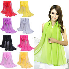 WOW NEW Fashion Women Long Soft Wrap Lady Shawl Chiffon Soft Silk Scarf Scarves