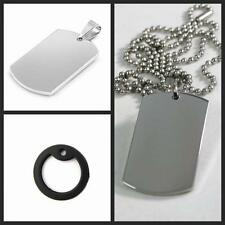 Ball Bead Chain Necklace Military Army Dog Tag Steel Stainless Pendant