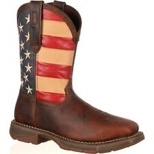"Durango DB020 12"" Rebel Steel Toe EH Rated Slip Resistant US Flag Western Boots"
