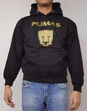 Pumas UNAM Men's Black Hoodie Sweatshirt Slim Fit