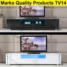 TV Entertainment Unit Stand Gloss Cabinet LED Lowline Shelf TV14 White & Black