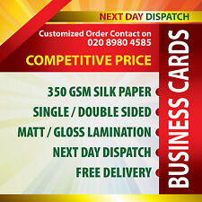 BUSINESS CARDS PRINTED ON 350GSM SILK FULL COLOR WITH LAMINATED