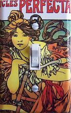 MUCHA CYCLE Vintage Poster Single, Double Switch Plate  ***FREE SHIPPING***