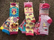 NEW 3/6 PACK GIRLS FUN CUTE NOVELTY CHARACTER ANKLE SOCKS - 3-5,6-8,9-12,12-3