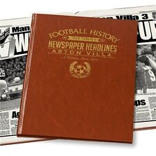 Personalised Aston Villa FC Newspaper Football Book Fan Memorabilia Gift
