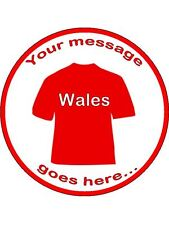 "Wales Inspired Edible Topper Wafer or Icing 7 1/2"" round cake topper"