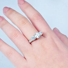 10KT Jewelry Size 6-9 White Gold Filled White Sapphire Wedding Band Ring Ring