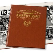 Personalised Birmingham City FC Newspaper Football Book Fan Memorabilia Gift