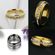 Stainless Steel Sz4-15 CZ Ring Wedding Titanium Couple