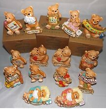 Hand Painted Collectable Pottery  Teddy Bears   MADE IN ENGLAND