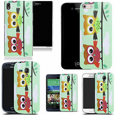 art case cover for various Mobile phones - branched joining owls silicone