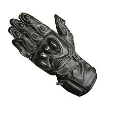 New SP Men's Leather Motorcycle Street Racing Protective Palm Slider Gloves